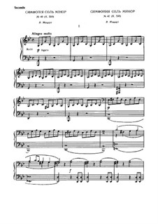 Complete Movements: para piano de quadro mãos by Wolfgang Amadeus Mozart