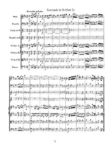 Serenade for Orchestra No.7 in D Major 'Haffner', K.250: movimento II by Wolfgang Amadeus Mozart