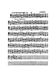 Canzon Vigesimaterza, à 5, for All Kinds of Instrument: parte tenor by Claudio Merulo