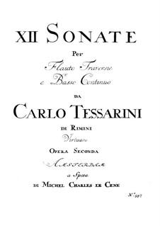 Sonatas for Flute (or Violin) and Basso Continuo, Op.2, 14: Sonatas for Flute (or Violin) and Basso Continuo by Carlo Tessarini