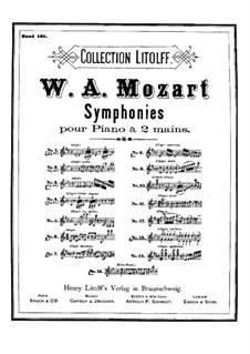 Symphony No.25 in G Minor, K.183: arranjo para piano by Wolfgang Amadeus Mozart
