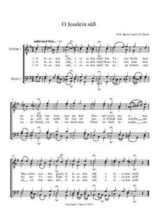 O Jesulein süss, BWV 493: Für Männerchor by Johann Sebastian Bach