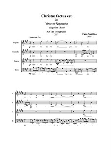 Christus factus est. SATB a cappella, CS117: Christus factus est. SATB a cappella by Santino Cara