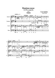 Dominus meus, Motet for SATB a cappella, CS172 No.2: Dominus meus, Motet for SATB a cappella by Santino Cara