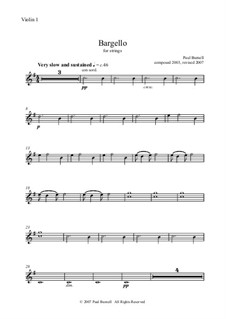 Bargello, for strings: partes by Paul Burnell