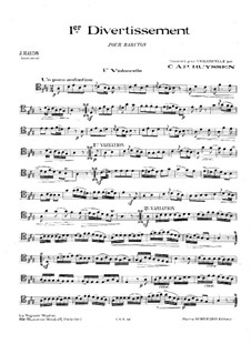 Two Divertissements: No.1. Version for cello and piano – cello part, Hob.XI/38 by Joseph Haydn