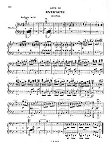 Zampa, ou La fiancée de marbre (Zampa, or the Marble Bride): Act III, for piano four hands by Ferdinand Herold