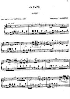 Toreador's Song: para piano (com dedilhado) by Georges Bizet