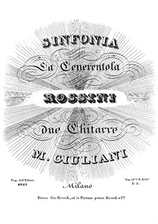 La Cenerentola (Cinderella): Overture, for two guitars by Gioacchino Rossini