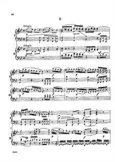 Concerto for Three Pianos and Orchestra No.7 in F Major 'Lodron', K.242: Movements II-III. Version for two pianos four hands by Wolfgang Amadeus Mozart