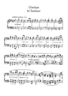 Fragments: Overture, para piano by Richard Wagner