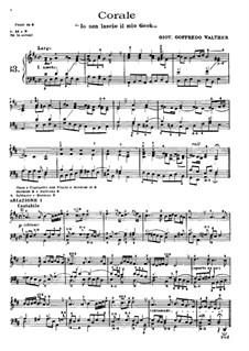 Choral 'Io non lascio il mio Gesù': Choral 'Io non lascio il mio Gesù' by Leopold Wallner