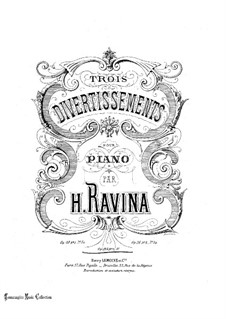 Divertissement No.3, Op.115: Divertissement No.3 by Jean-Henri Ravina