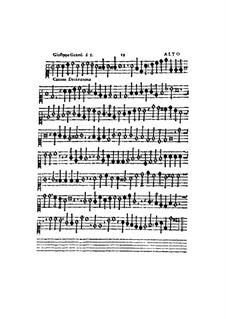 Canzon Decimanona: parte alto by Gioseffo Guami