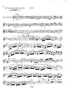 Grand Solo No.5 for Flute and Piano, Op.79: Parte de solo by Jean-Louis Tulou