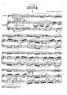 Suite for Flute and Piano, Op.34: Score by Charles-Marie Widor