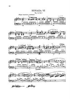 Three Sonatas for Piano, Op.10: No.3 in E Major, Craw 62 by Jan Ladislav Dussek