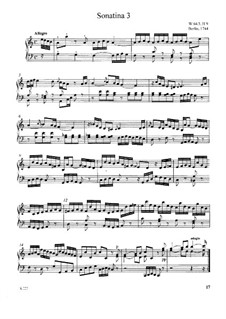 Sonatina for Keyboard No.3 in A Minor, H 9 Wq 64: Sonatina for Keyboard No.3 in A Minor by Carl Philipp Emanuel Bach