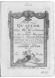 Three Quartets for Flute and Strings, Op.1: Three Quartets for Flute and Strings by Joseph Gitter