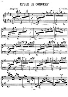 Etudes for Piano, Op.149: Etude No.1 in A Major (Book IV) by Benjamin Godard