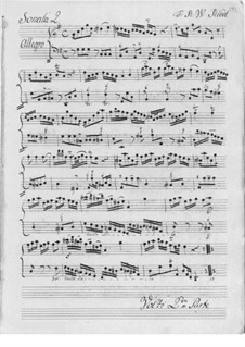 Sonata for Flute and Basso Continuo: soneto para flauta e fagote continuo by Friedrich Wilhelm Riedt
