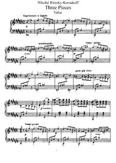 Three Pieces, Op.15: set completo by Nikolai Rimsky-Korsakov