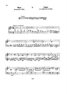 Six Variations on the Theme BACH, Op.10: No.6 Fugue by Nikolai Rimsky-Korsakov