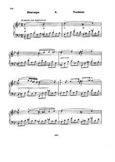 Six Variations on the Theme BACH, Op.10: No.4 Nocturne by Nikolai Rimsky-Korsakov