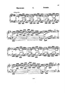Six Variations on the Theme BACH, Op.10: No.5 Prelude by Nikolai Rimsky-Korsakov