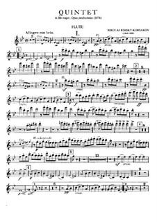 Piano Quintet in B Flat Major: parte flauta by Nikolai Rimsky-Korsakov