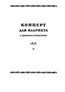 Concerto for Clarinet and Winds in E Flat Major: partitura completa by Nikolai Rimsky-Korsakov