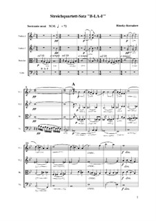 String Quartet on the Theme 'B-La-F': movimento I by Nikolai Rimsky-Korsakov