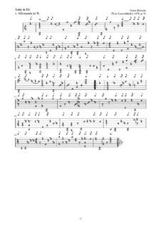 Neue Lautenfrüchte: Suite Nr.9 in Eb by Esaias Reusner