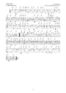 Neue Lautenfrüchte: Suite Nr.17 in Em by Esaias Reusner