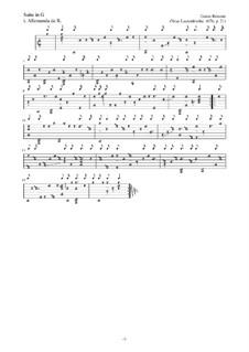 Neue Lautenfrüchte: Suite Nr.21 in G by Esaias Reusner