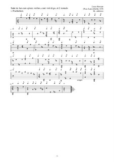 Suite in Am: Suite in Am by Esaias Reusner