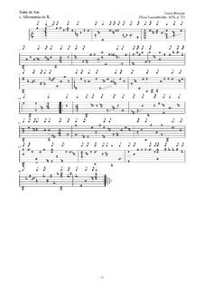 Neue Lautenfrüchte: Suite Nr.23 in Am by Esaias Reusner
