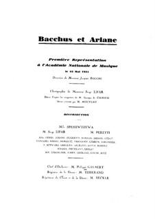 Bacchus et Ariane (Ballet), Op.43: versão para piano by Albert Roussel