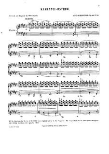 Rocky Islands, Op.10: No.22 La gondoliere (with fingering) by Anton Rubinstein