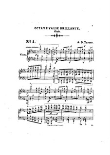 Six Concert Etudes: No.1 Octave valse brillante by Alfred Dudley Turner