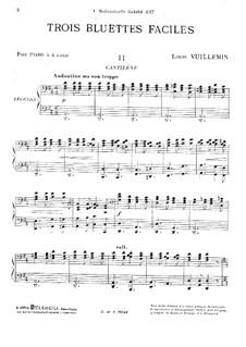Trois bluettes faciles: No.2 Cantilène by Louis Vuillemin