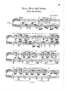 Songs and Romances: Book III, for piano by Robert Schumann