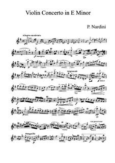 Concerto for Violin and Orchestra in E Minor: parte Solo by Pietro Nardini
