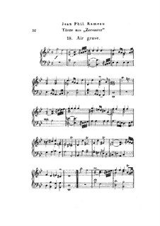 Zoroastre, RCT 62: Dances No.18-20, for piano by Jean-Philippe Rameau