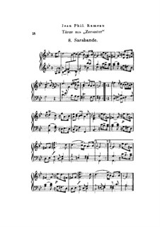 Zoroastre, RCT 62: Dances No.8-10, for piano by Jean-Philippe Rameau