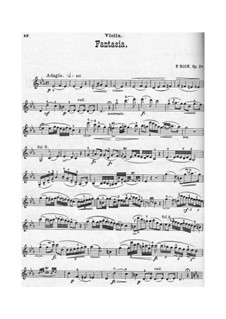 Fantasia for Violin and Piano, Op.24: parte Solo by Pierre Rode