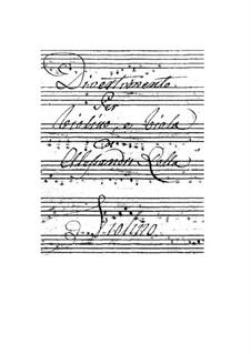 Three Serenades for Violin and Viola, BI 47, 100, 73 Op.14: No.3 Divertimento by Alessandro Rolla