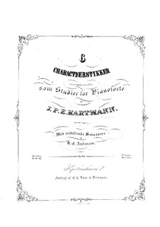 Six Studies, Op.50: set completo by Johan Peter Emilius Hartmann