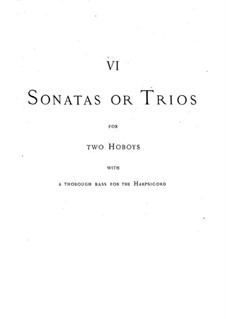 Trio Sonatas: Trio Sonatas by Georg Friedrich Händel
