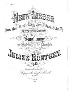 Nine Songs, Op.15: Nine Songs by Julius Röntgen